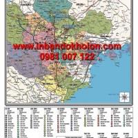 Bản đồ các khu công nghiệp miền Bắc khổ lớn treo tường