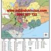 Bản đồ các khu công nghiệp miền Nam khổ lớn treo tường