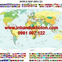 Bản đồ Thế Giới khổ lớn treo tường (Mẫu 22)