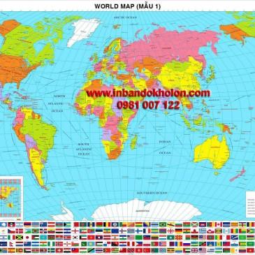 Bản đồ Thế Giới khổ lớn giá rẻ