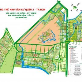 Bản đồ tổng thể khu dân cư Quận 2