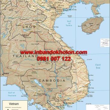 Bản đồ Việt Nam khổ lớn treo tường giá rẻ