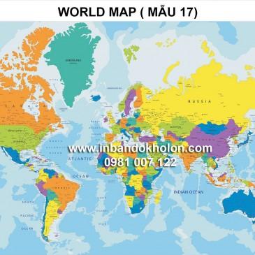 Bản đồ Thế Giới khổ lớn treo tường giá rẻ