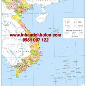 Bản đồ hành chính Việt Nam treo tường khổ lớn giá rẻ