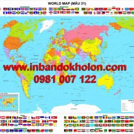 Bản đồ Thế Giới khổ lớn treo tường (Mẫu 21)