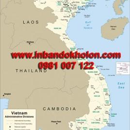 Bản đồ Việt Nam khổ lớn treo tường (Mẫu 11)