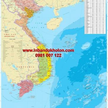 Bản đồ Việt Nam vùng miền khổ lớn tại TPHCM và các tỉnh phụ cận