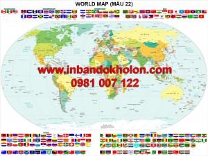 In bản đồ Thế Giới khổ lớn tại TPHCM