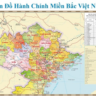 BẢN ĐỒ MIỀN BẮC (NORTH VIETNAM MAP)