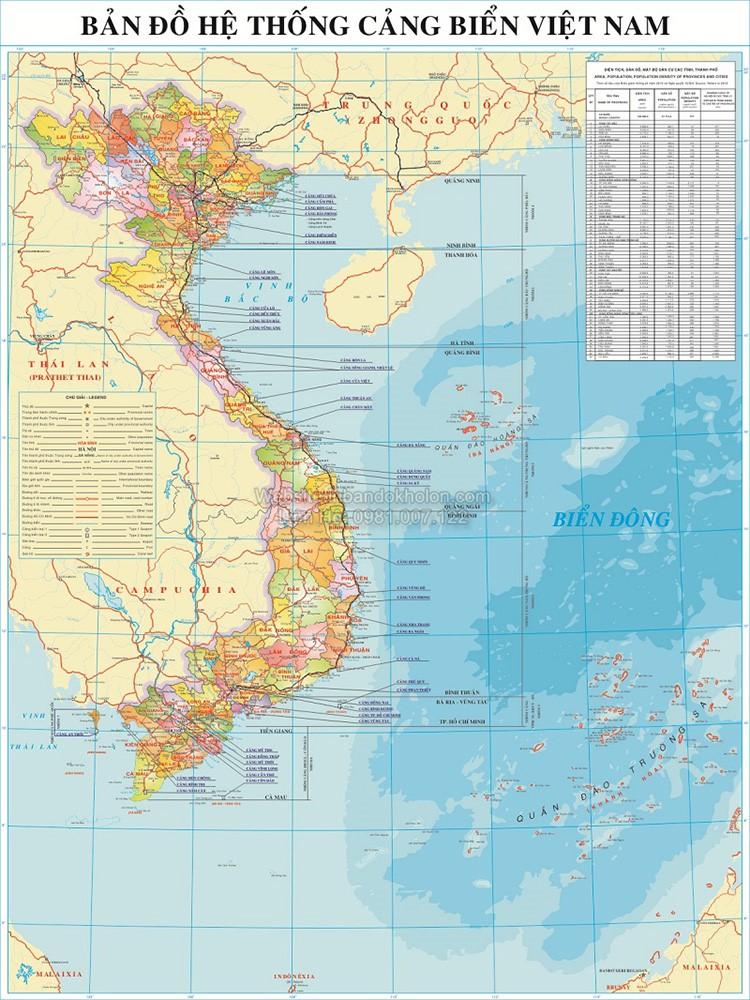 Bản đồ cảng biển Việt Nam