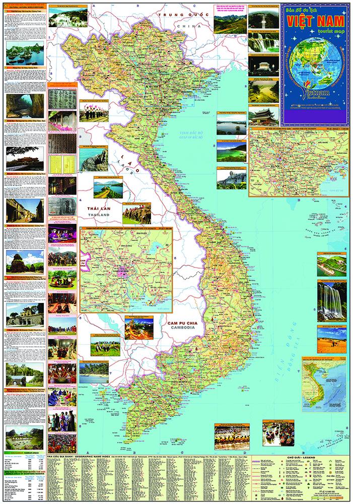 bản đồ du lịch Việt Nam