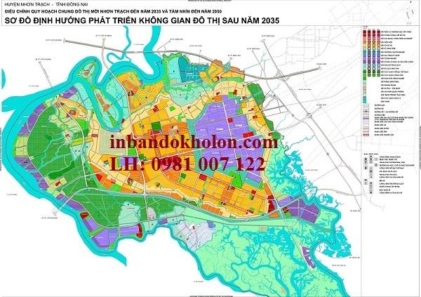 bản đồ quy hoạch nhơn trạch đồng nai