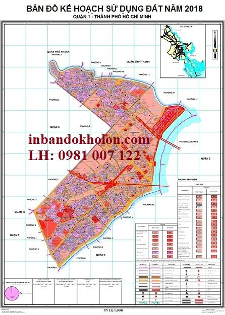 bản đồ quy hoạch sử dụng đất quận 1