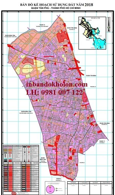 bản đồ quy hoạch sử dụng đất tân phu