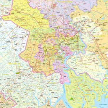 Bản đồ Hồ Chí Minh Chi Tiết Về Đường Xá