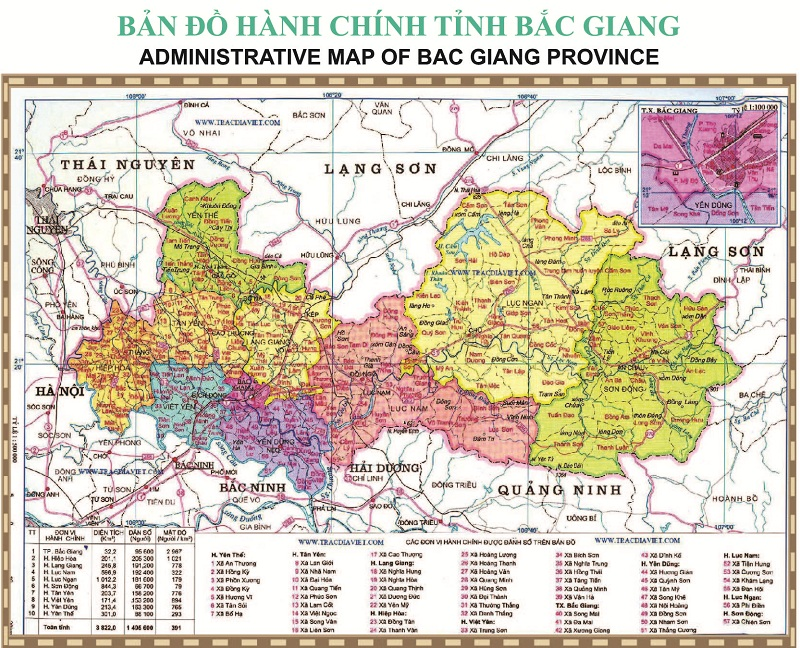 ban do bac giang