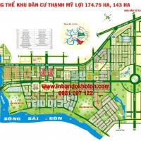 Bản đồ khu dân cư Thạnh Mỹ Lợi