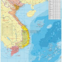 Bản đồ Việt Nam khổ lớn treo tường (Mẫu 12)