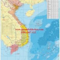 Bản Đồ Việt Nam Giấy A0