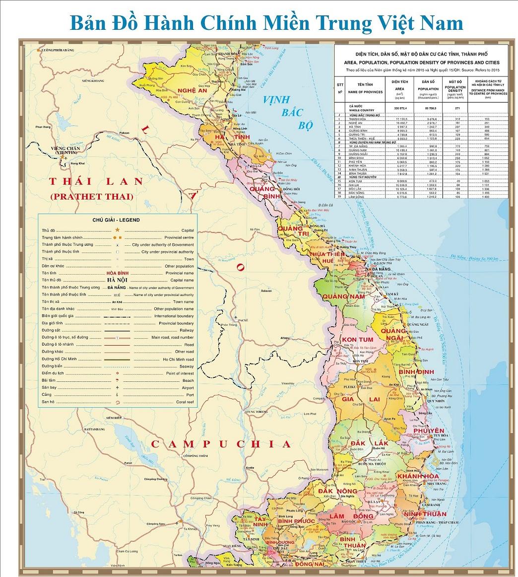 Bản đồ Miền Trung Map Of Central Vietnam