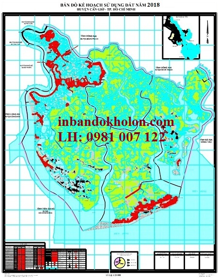 bản đồ quy hoạch sử dụng đất Cần Giờ